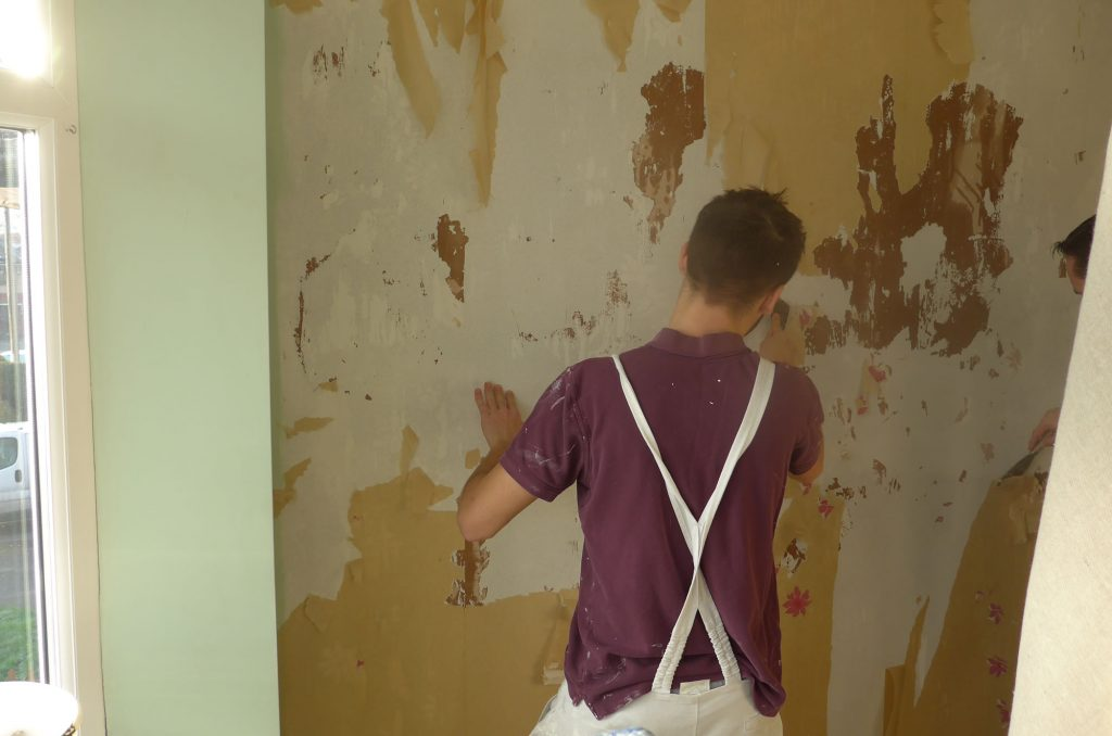 Stripping Wall Paper Preparation