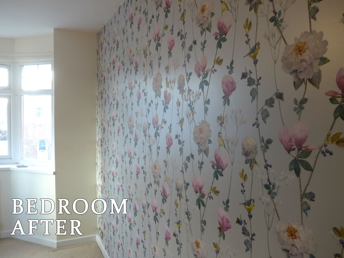 Regents Park House Bedroom after Painting & Decorating
