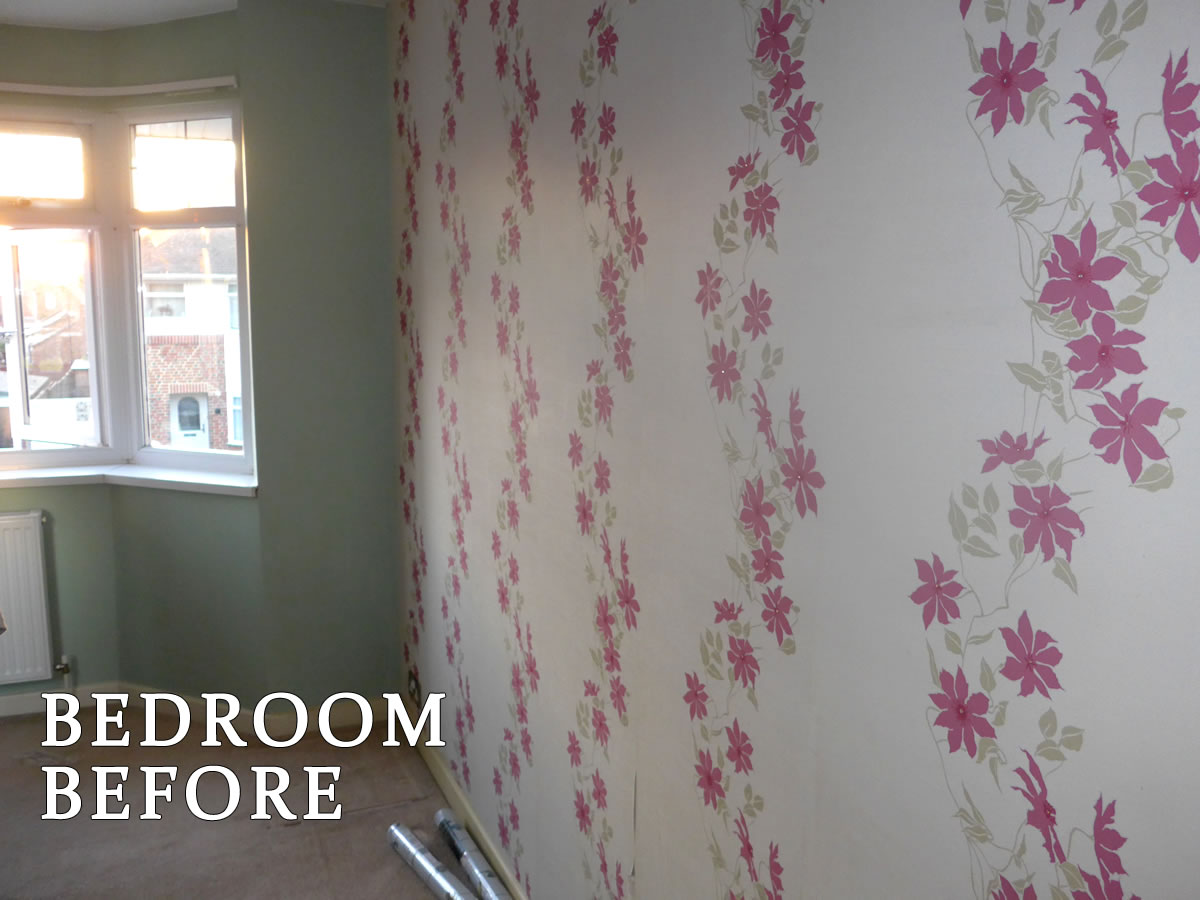 Regents Park House Bedroom before Painting & Decorating