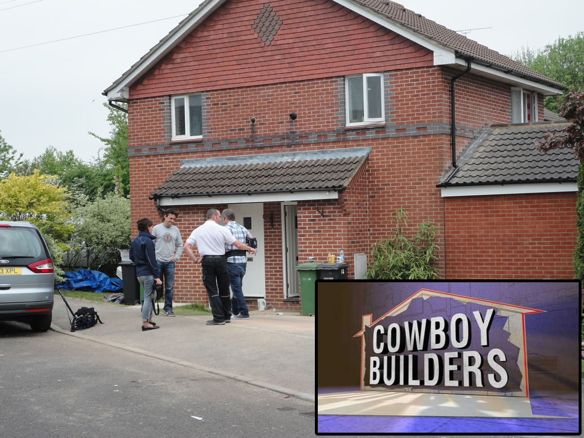 Cowboy Builders Filming in Hedge End, Hampshire